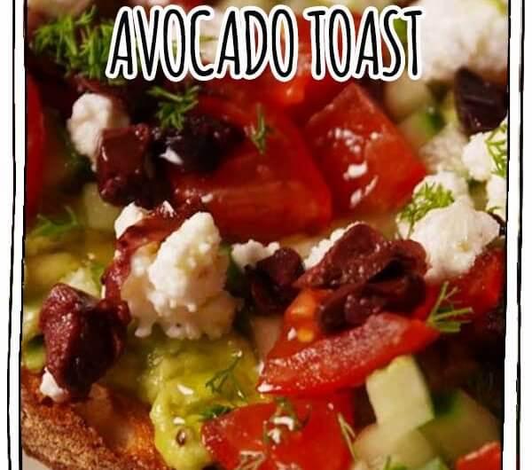 Greek Avocado Toast