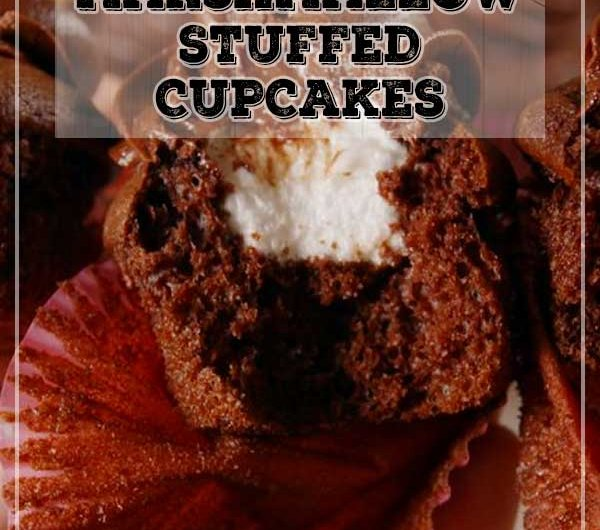 Marshmallow Stuffed Cupcakes