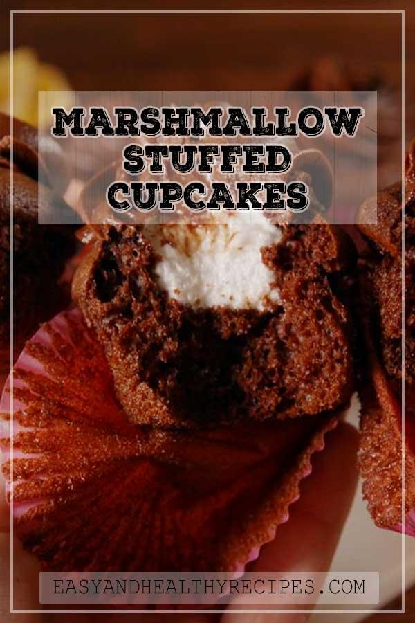 Marshmallow-Stuffed-Cupcakes